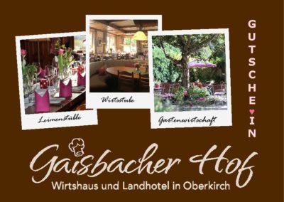 Gaisbacher Hof – Wirtshaus und Landhotel | Oberkirch