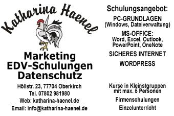 Katharina Haenel, EDV Schulungen | Oberkirch